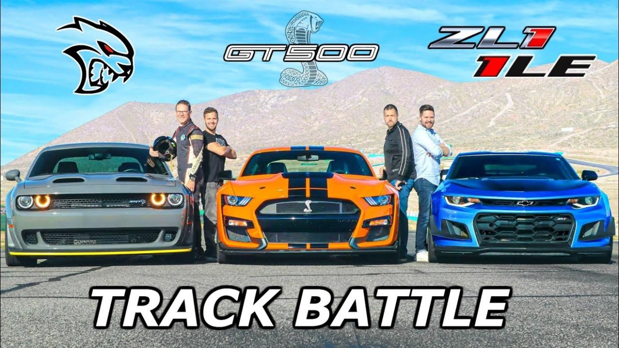 3 Mustang Shelby GT3 vs Camaro ZL3 3LE vs Hellcat Redeye // DRAG RACE, ROLL RACE & LAP TIMES - 2021 Mustang Gt500 Vs Dodge Demon