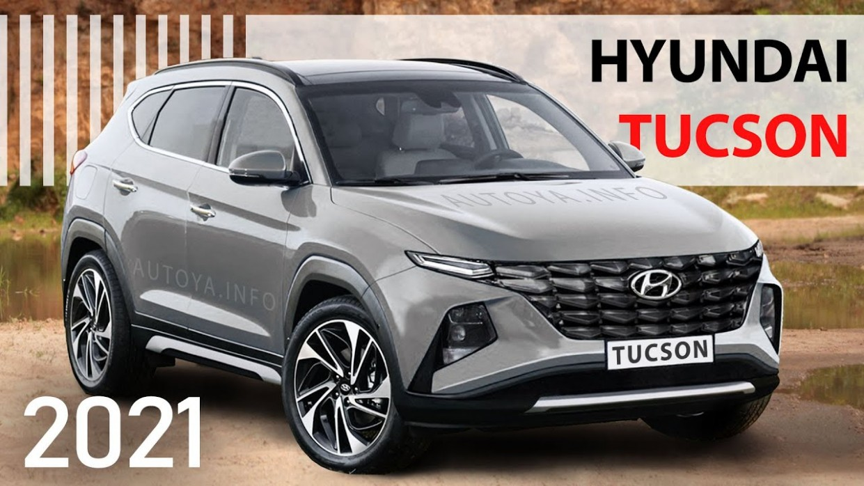 New Hyundai Tucson 5 Model Redesign from Renders based on Spy Shots and Tucson 5 Concept - Hyundai Tucson Redesign 2021