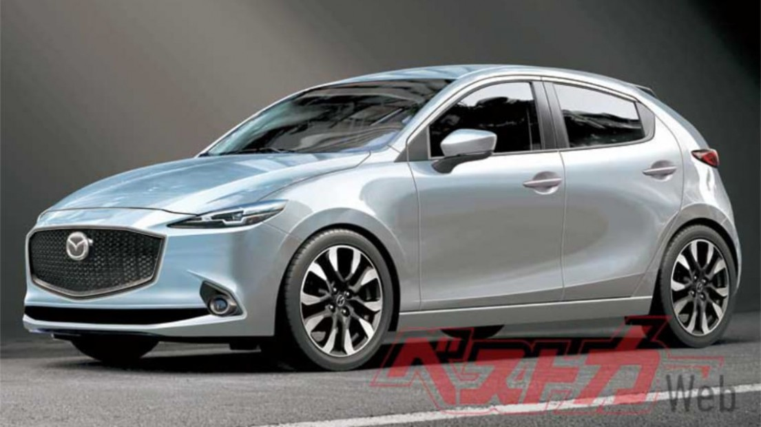 New Mazda 4 Hybrid 4044 is coming to tempt you from the Toyota - All New Mazda 2 2021