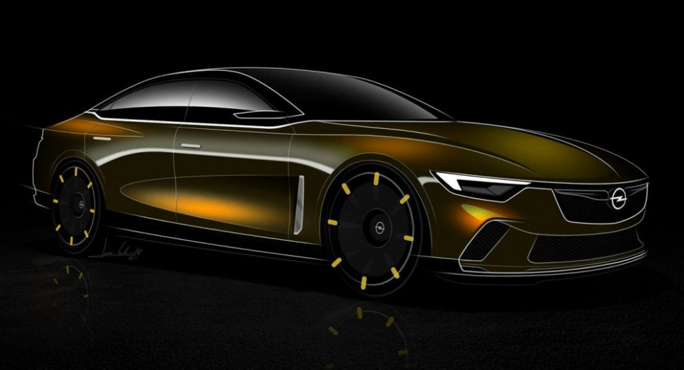Opel Rekord Imagined As A 3st Century Flagship Carscoops - Opel Rekord 2021