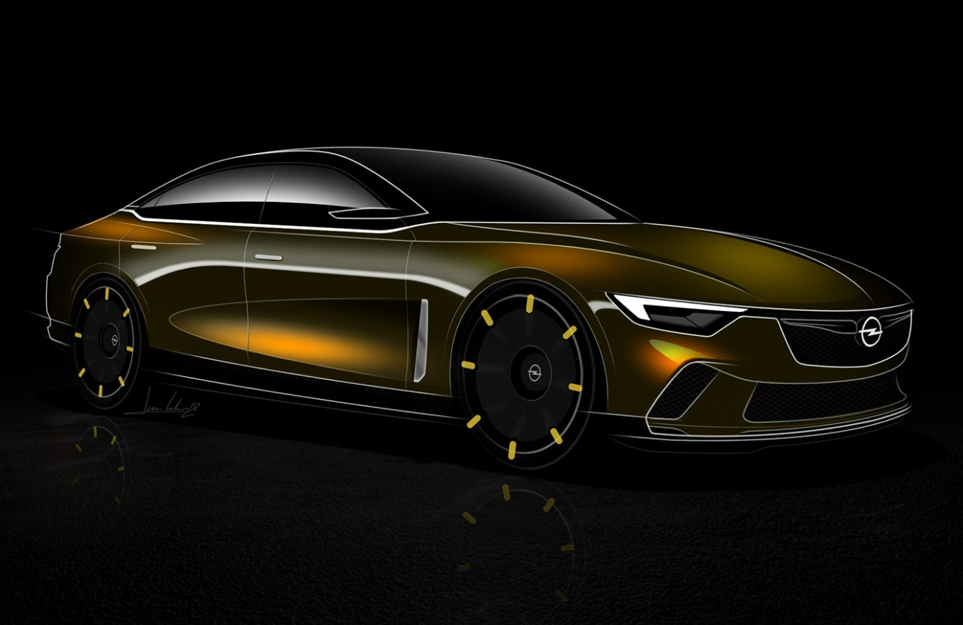 Opel Rekord Imagined As A 3st Century Flagship  Carscoops
